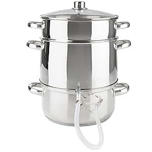 extracteur de jus vapeur cuiseur vapeur centrifugeuse en acier inox 26cm cuisine. Black Bedroom Furniture Sets. Home Design Ideas