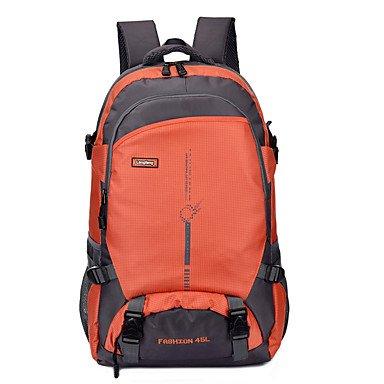 45 L Rucksack Camping & Wandern Reisen tragbar Atmungsaktiv Feuchtigkeitsundurchlässig Orange