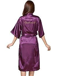 GODGETS Kimono Batas Largas Mujer Lenceria de Aspecto Brillante