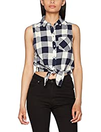 ONLY Damen Bluse Onlgava S/L Tie Shirt Wvn