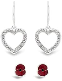 The Royal British Legion Amazon Exclusive Poppy Earrings