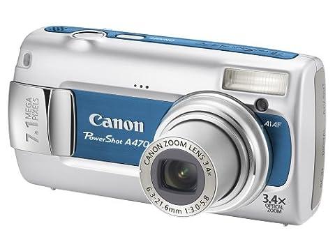 Canon PowerShot A470 Digital Camera - Blue (7.1MP, 3.4 xOptical Zoom) 2.5