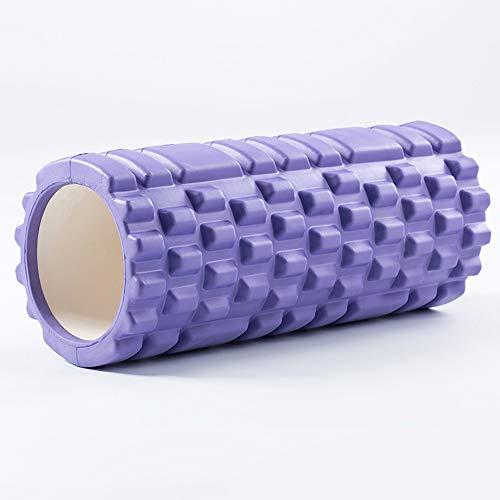 Schaumstoffrolle 45Cm Eva Schaumstoffrolle Hohl Verdickung Massagepartikel für Gewebemuskulatur Gym Übung Textur, Schmerzlinderung, Yoga, Pilates,Lila - Verdickung Verlassen