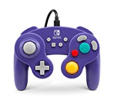 PowerA - Mando Con Cable Estilo Gamecub, Morado (Nintendo Switch)