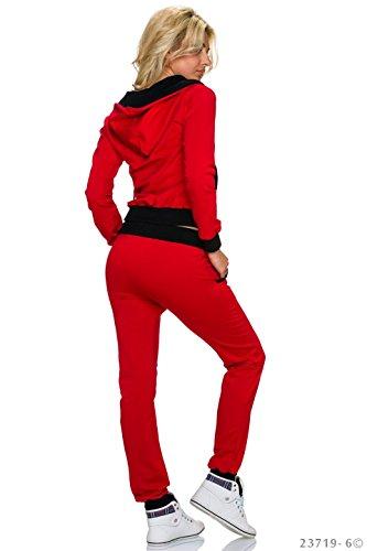 Crazy Age - Survêtement - Femme rouge/noir