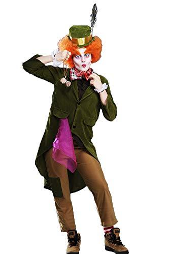 Magic Box Int. Kinder Deluxe Grün Das Wütende Hutmacher Kostüm XL (10-12 ()