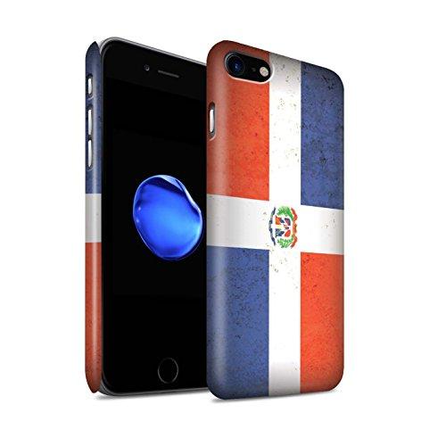 STUFF4 Matte Snap-On Hülle / Case für Apple iPhone 7 Plus / Dominikanische Republik Muster / Amerika Flagge Kollektion Dominikanische Republik