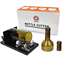 Genround [2019 Versión de actualización] Cortadores de Botellas de Vidrio Redondo Cuadrado Cortadora vidrio Bottle Cutter