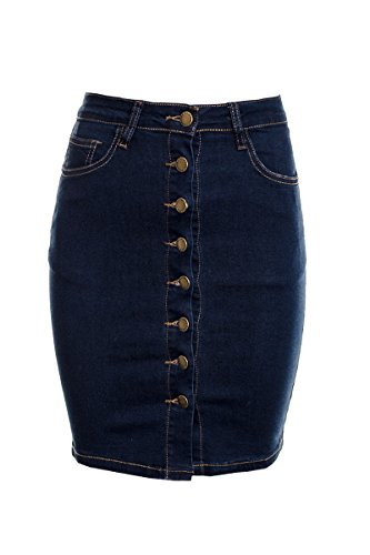 Used, Women's A Line Denim Button Down Skirt Ladies Denim for sale  Delivered anywhere in UK