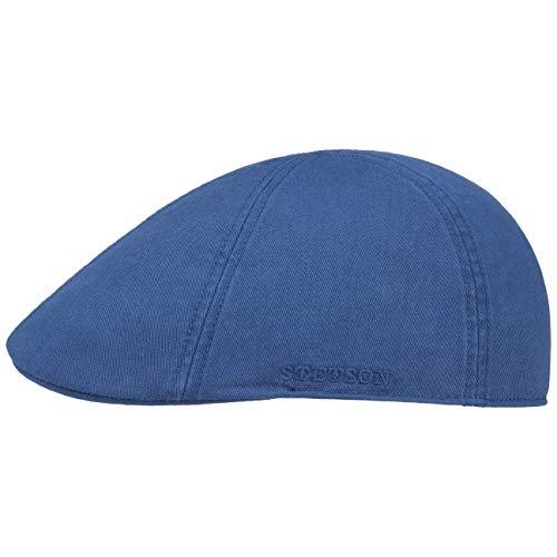 1c0295343e61 Stetson Gorra Texas con Protección UV Hombre   Gorro Ivy de algodón Sol  Visera Primavera/Verano   L (58-59 cm) Azul