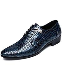 0bcc318c04d3 ZCH Herrenschuhe Oxford Derby Schuhe Kleid Schuhe Python Muster Hochzeit  Schuhe große Größe Bankett Business Casual