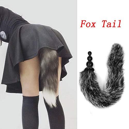 Mitlfuny Sex Spielzeug Schmuck Anal Butt Plug,Analplug Fox Tail Dog Tail Butt Plug Anal Sex Spielzeug für Erwachsene Anal Tail Plug