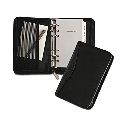 david-king-co-5-x-8-mit-reissverschluss-6-ring-agenda-schwarz-one-size