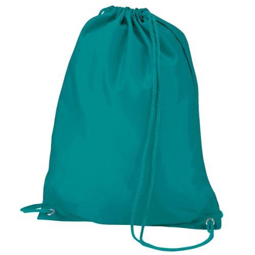 Imagen de quadra   saco o de cuerdas impermeable/resistente al agua modelo gymsac deporte/gimnasio 7 litros  talla única/verde esmeralda