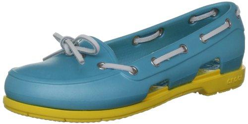 Crocs Scarpe da Barca Donna Beach Line Navy/Bianco 38-39