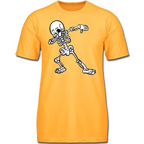 bbing Skelett - 104 (3-4 Jahre) - Gelb - F130K - Jungen Kinder T-Shirt ()