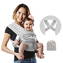 Baby K'tan Cotton Heather Grey Baby Carrier (Small)
