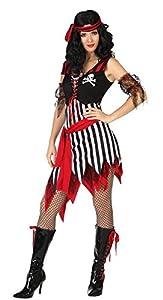 Atosa-26592 Disfraz Pirata, Color Negro, XL (229293)