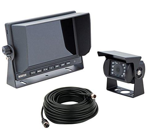 VSG HD-720P Rückfahrsystem / HD-Auflösung / 12-24 Volt / 120° & IP67 / extrem robust / 3 Videoeingänge / inkl. 20m Kabel / Nachtsicht / Premium-Serie