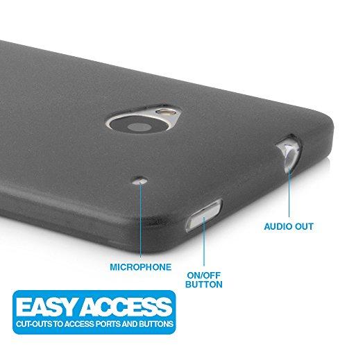 Ultra Thin Case MC24® per Apple iPhone 5c in blu - sottile custodia protettiva trasparente in polipropilene nero