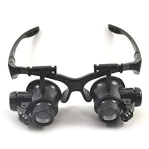 GD dys verres de type 10x 15x 20x 25x (15mm) d'esprit conduit-licht réparation de montres loupe pas 9892gj noir
