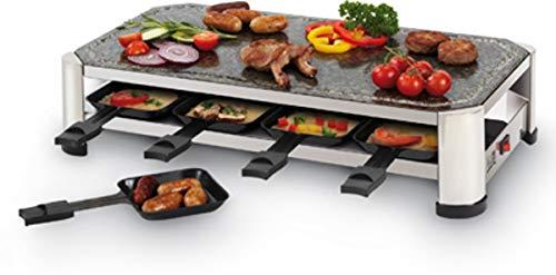FRITEL SG 2180 Grill 1500W schwarz, verchromt, Edelstahl - Grill (1500 W, Grill, 8 Personen (S), schwarz, Chrom, Edelstahl, rechteckig, 495 x 270 mm)