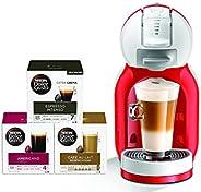 Nescafe Dolce Gusto Mini Me Coffee Machine (with 3 Capsule Boxes), Red, DG0132180904 R+CAPS BUNDLE, mini me bu