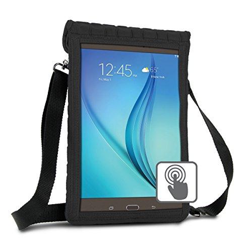 USA Gear 10 Zoll Tablet Schutzhülle zum Umhängen: Tasche mit Touch-Funktion, aus Neopren, für z.B. Samsung Galaxy Tab A & weitere Tablets, Schwarz