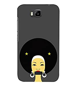 Fiobs Designer Phone Back Case Cover Huawei Honor Bee :: Huawei Honor Bee Y5c ( Retro Women Beautiful Girl Vintage )