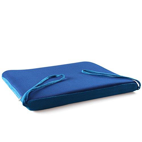 Memory-Schaum Seat Dämpfung,Office Stuhlkissen,Firma rutschfeste Beziehungen Waschbar Vier Jahreszeiten Gesäß Kissen Stuhl-pad-Blau 52x55x5cm(20x22x2) -