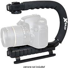 Opteka X-GRIP profesional DSLR Cámara Digital estabilizador soporte para vídeo de acción estabilizador de mano mango soporte de mano para Canon EOS 1d 1ds 5d mark 23II III 6d 7d 10d 20d 20DA 30d 40d 50d 60d 60Da 70d 100d 300d 350d 400d 450d 500d 550d 600d 650d 700d 1000d 1100d 1200d Rebel XS SL1XT XTi XSi T1i T2i T3T3i T4i T5T5i Kiss F N X X2X3X4X5X6i X50X70Powershot SX1IS SX10IS SX20IS SX30IS SX40HS SX50HS SX1SX10SX20SX30SX40SX50IS HS