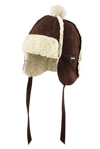 Capodastre Enfant Unisexe En Cuir Style Bomber Hat Marron Brazil-Brown