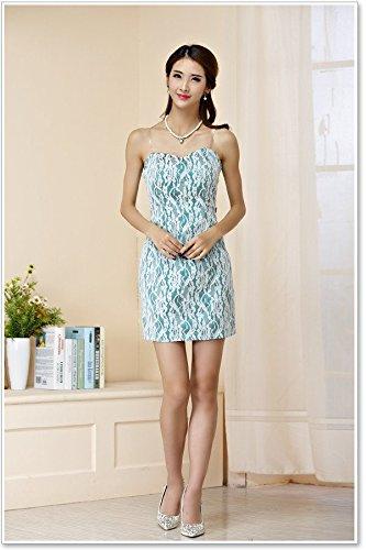 PLAER femmes Sexy Engrener Soutien-gorge machaon robe mariage de demoiselle dhonneur robe soirée de fête cocktail robe Bleu