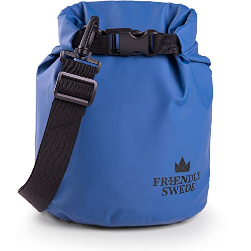The Friendly Swede Dry Bag 2L / 5L / 10L / 20L - Packsack wasserdicht Set für Outdoor, Sport, Reise - Trockentaschen, Packsäcke, Seesäcke mit Schultergurt