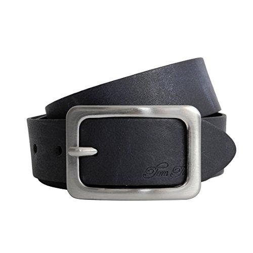 Damen-Gürtel Leder von Tom Tailor - Damenledergürtel , Womans' belt aus Vollleder Natur-Rustikal mit Metall Dornschließe ( Nachtblau 95cm ) - präsentiert von ZMOKA® (Designer-gürtel Womens)