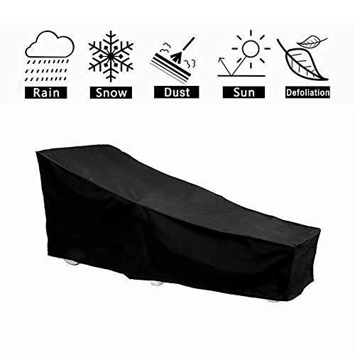 HONCENMAX Schutzhülle für Liegen | Abdeckhauben für Liegen | Sonnenliege Liegestuhl Abdeckung | Abdeckung für Gartenliegen und Relaxliegen | Wetterschutz | Wasserdicht | UV-Schutz -
