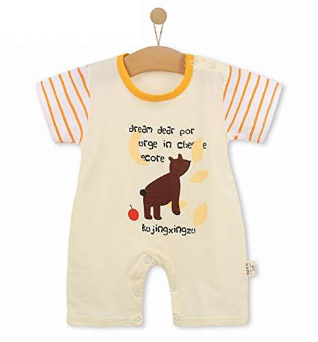 Unisex-Baby Infant Wide Short Sleeve Animal Cartoon Bodysuit Bodys BB@TZZ08HH-0106
