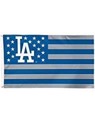 MLB Los Angeles Dodgers Stars and Stripes Deluxe Flag, 3 x 5', Multicolor by Wincraft