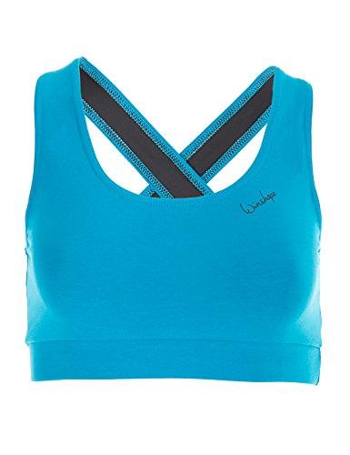 Winshape Damen BH WVR4 mit offenem Drop Back Design, All-Fit Style Fitness Freizeit Sport, türkis, XL -