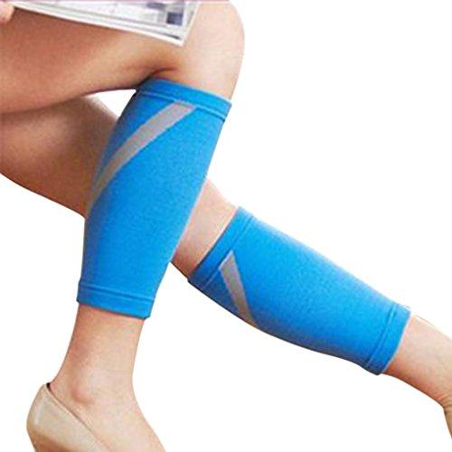 Wadenschutz Kompressionsstrümpfe Beinschützer aus Nylon für Bodybuilding und Tanzen (Azurblau) (Mma Damen Kostüm)