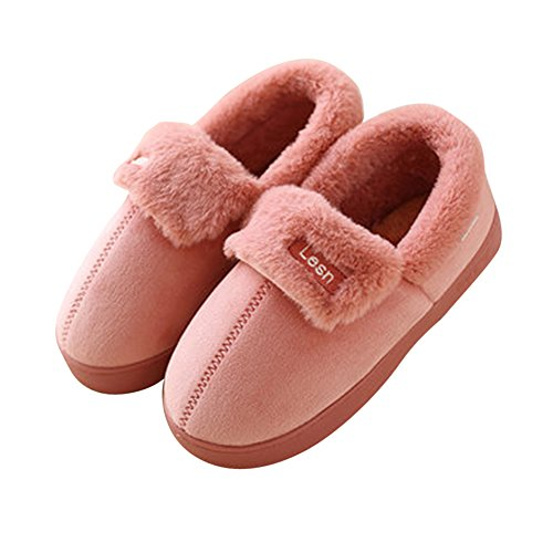 Morbide scarpe di cotone pantofole inverno autunno interno casa slippers per donna e uomo da pingenaneer 24cm/39-40 cuoio rosso