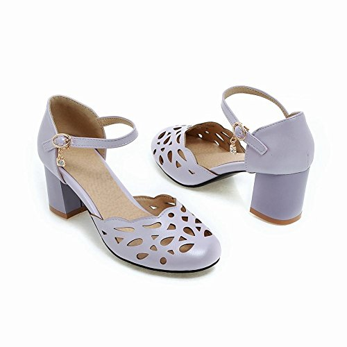 Mee Shoes Damen chunky heels ankle strap Pumps Lila