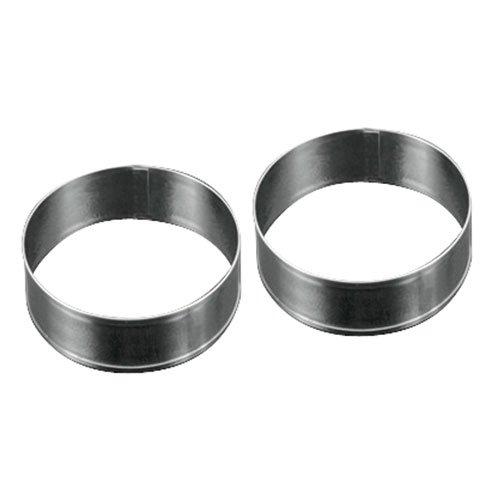 Metaltex Juego de 2 aros para emplatar de acero inoxidable, 85 x 42 milímetros