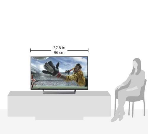 Sony Bravia KDL-43WD751 43 inch Full HD Smart TV with Freeview, HDD Rec and USB Playback (2016 Model) – Black