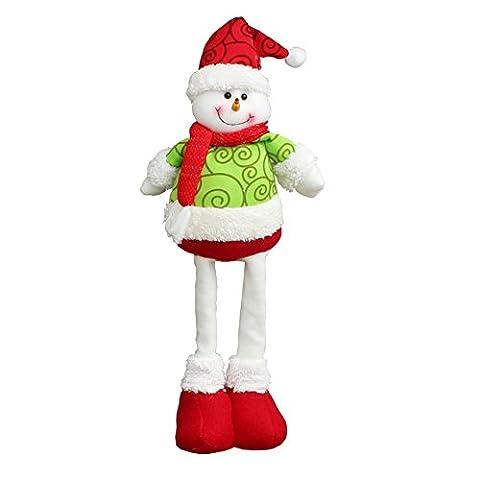 Reefa Weihnachten Geschenk Weihnachtsmann Dekoration Teleskopstange Zierde Puppe