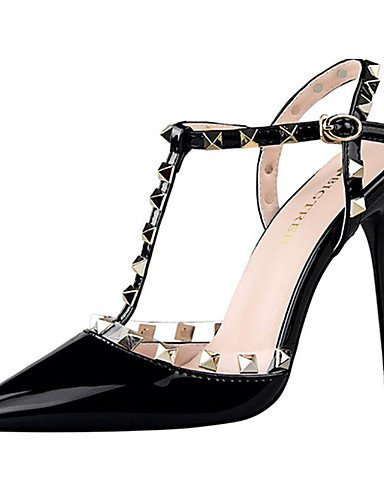 WSS 2016 Chaussures Femme-Décontracté-Noir / Rose / Blanc / Argent / Gris-Talon Aiguille-Talons-Talons-Polyuréthane pink-us6 / eu36 / uk4 / cn36