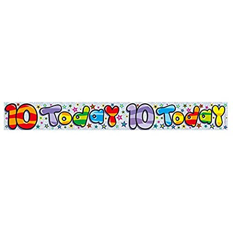 Expression Factory Age 10/10Th Birthday Banner 2.65M Long