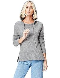 FIND Sweat-Shirt à Capuche en Maille Femme