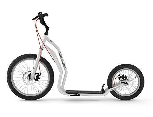 Mezeq RunRun Yedoo Scooter Tretroller 20/16 Zoll Cityroller Offroad-Reifen weiß für Erwachsene und Jugendliche (Zoll Reifen Und Off-road Felgen 20)