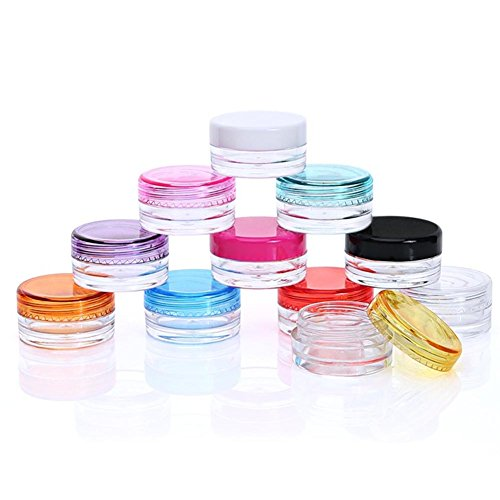 Cosmético del recorrido de la botella a prueba de fugas tarros cosméticos envases de muestra 10Pcs Contenedores de maquillaje pequeña muestra con tapas